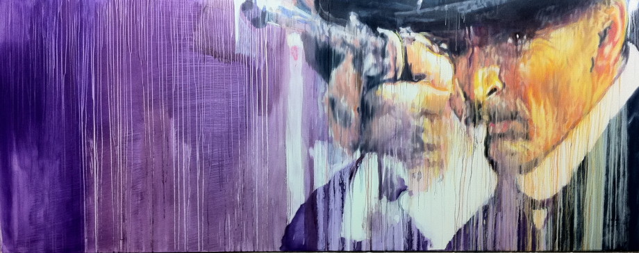 Quentin Tarantino's Favourite - Oil on Polymer; 10' x 4'